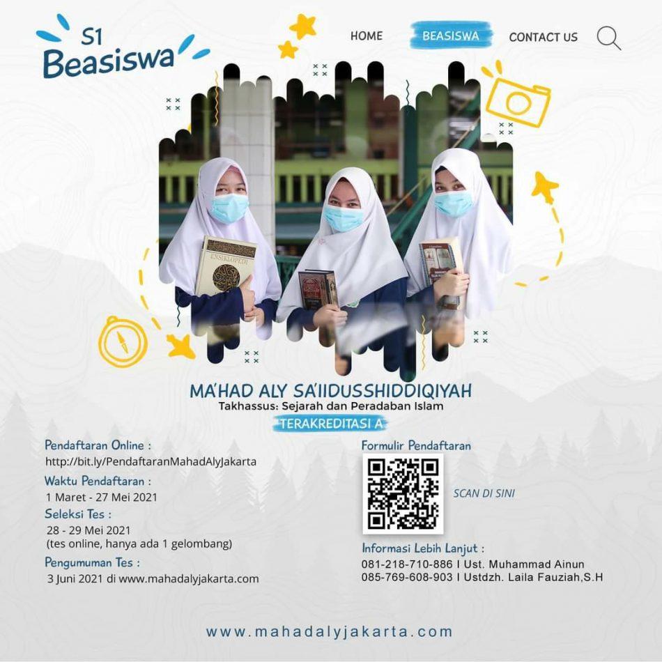 Hasil Seleksi PMB Ma'had Aly Sa'iidusshiddiqiyah Jakarta 2021